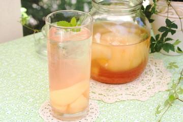 桃のフレーバーウォーター