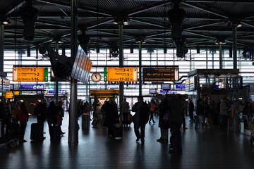 Terminal at Amsterdam airport Schiphol