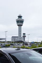 Parking area at Amsterdam airport