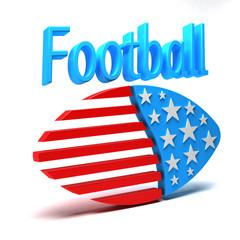 3D American Football Ad