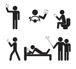Man People using Smartphone vector illustration