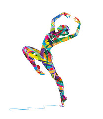 silhouette astratta di ballerina