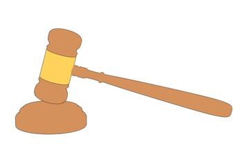 cartoon image of judge gavel