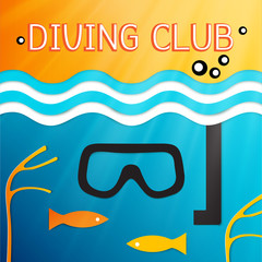 logo marine diving club. Vector illustration