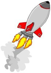 Silver rocket