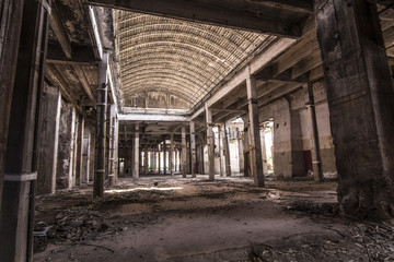 inside abandoned factory