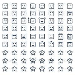 Big set smile,vector icon