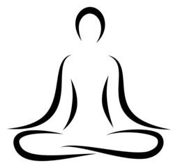 Abstract Yoga Lotus Position