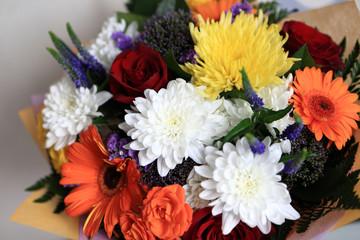 Details bouquet of flowers