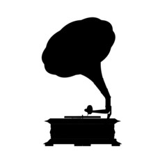Silhouette of the gramophone