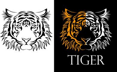 tattoo tiger logotype