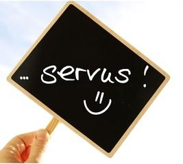 """tafel """"servus"""" I"""