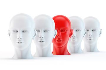unique red head