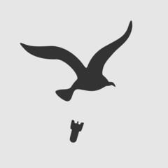Vector Symbol Bird Bombs