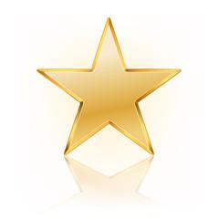 vector illustration of golden star