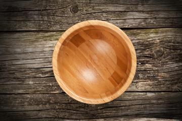 Fotoväggar - Empty bamboo bowl