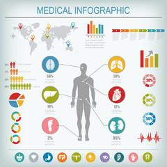 Medical infographics elements.