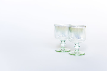Pair of small glasses for alcohol