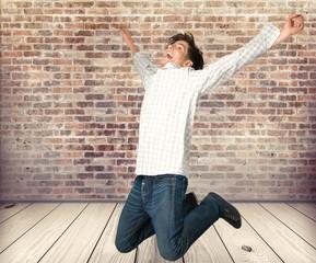 Excitement, Men, Jumping.