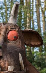 Closeup of Gruffalo Sculpture