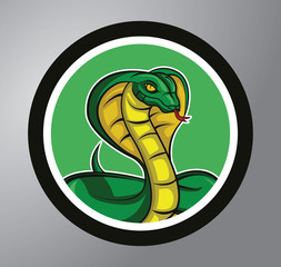 Cobra Circle sticker