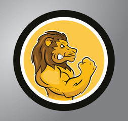 Lion Circle sticker