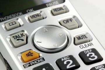Closeup of a handheld wireless digital phone