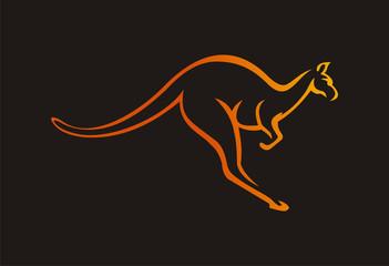 kangaroo logo vector illustration