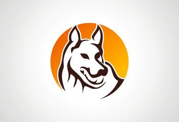 Wolf logo illustration vector