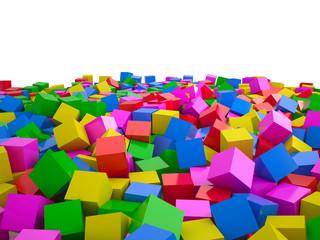Heap of cubes, 3D