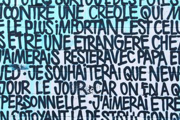 Street art - Texte