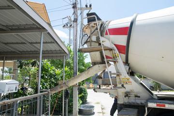 a part of Thai cement truck