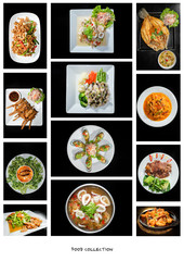 A collection of fusion food..