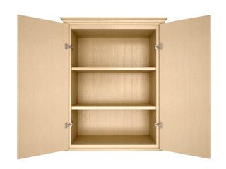 Fototapeta 3d illustration of empty cupboard obraz