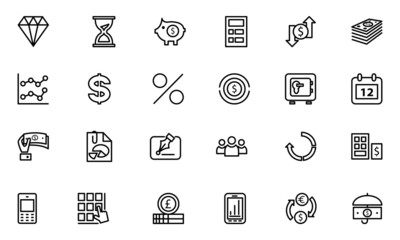 Finance Line Icons 7