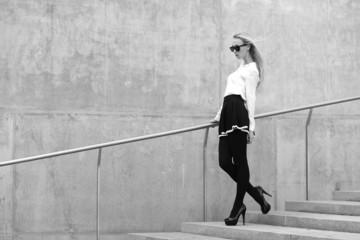 Fashion model on the street