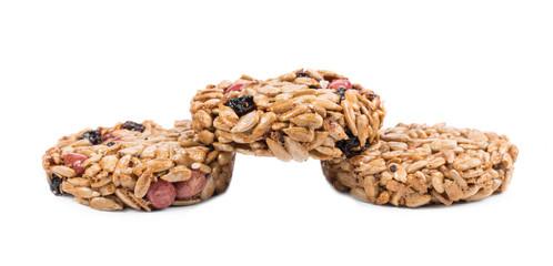 Three candied peanuts sunflower seeds.