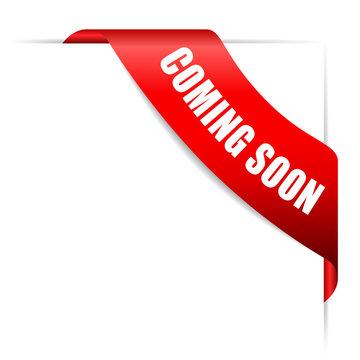Coming soon ribbon