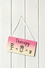 sign for family therapy - matchstick man family