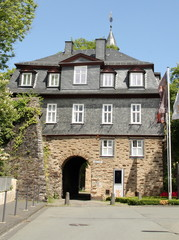 Entrance to the Obere Schloss from the 15th century in Siegen. Germany