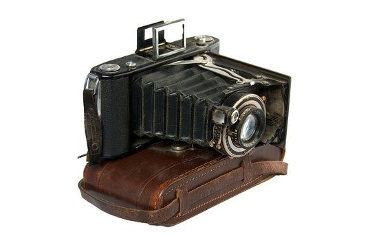 Fotoapparat Klappbalgenkamera Uralt