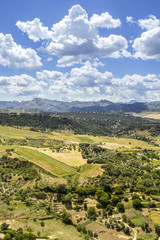Ronda landscape view. A Spanish city in Andalucia