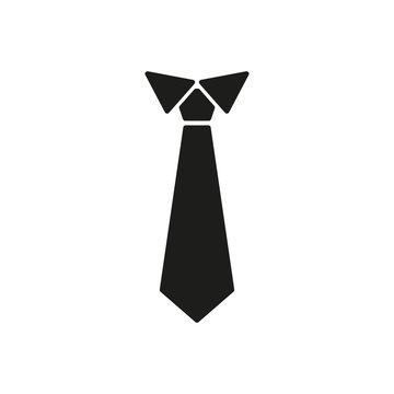The tie icon. Necktie and neckcloth symbol. Flat