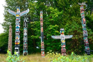 Totem Pole im Stanley Park, British Columbia, Kanada