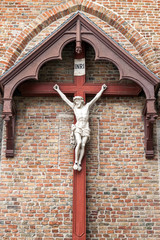 Crucifix on the wall