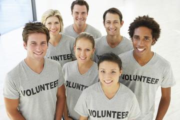 Portrait Of Volunteer Group