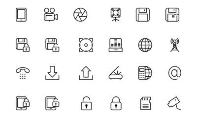 Media Line Icons 4