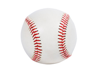 Single baseball with red knit.