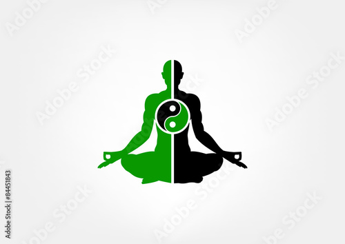 yoga meditation logo stock image and royalty free vector files on