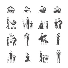 Fatherhood Icon Set
